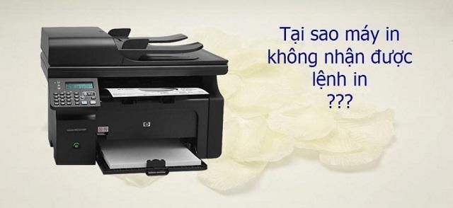 Phương pháp điều chỉnh khi máy in không nhận lệnh