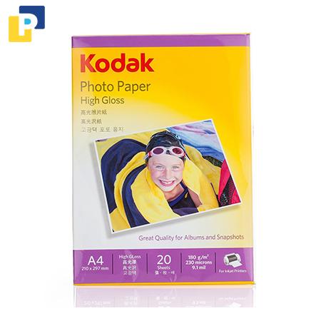 Giấy in ảnh cao cấp Kodak 20 tờ A4/tập (200gsm)